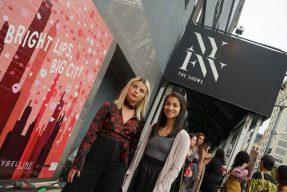 Students at New York Fashion Week