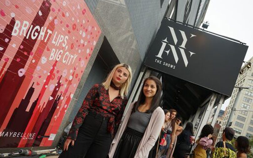 Students at New York Fashion Week