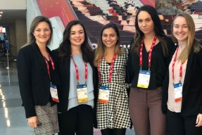 Students pose at the National Retail Federation Conference