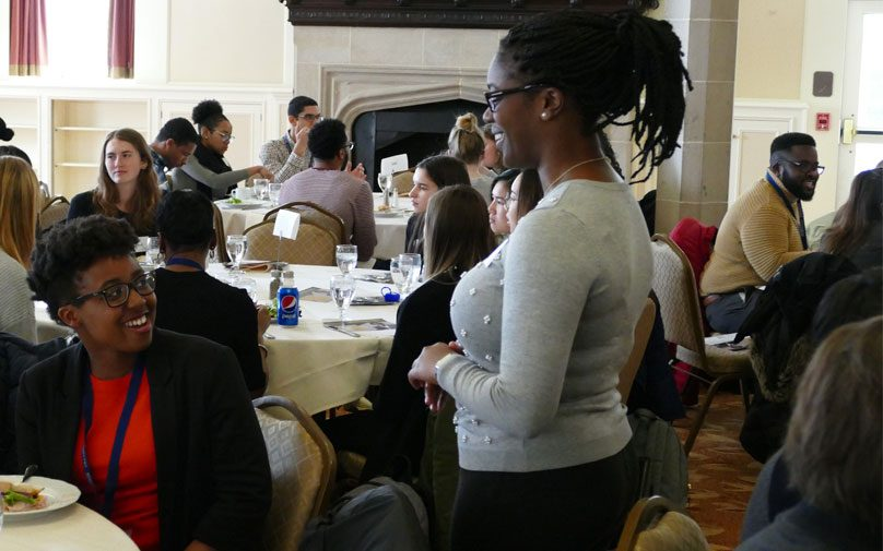 Students network at the Diversity Summit